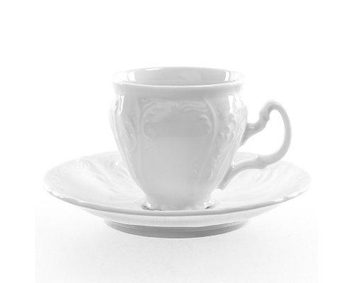 Набор кофейных пар 90 мл Бернадотт 0000 Недекорированный (6 пар)