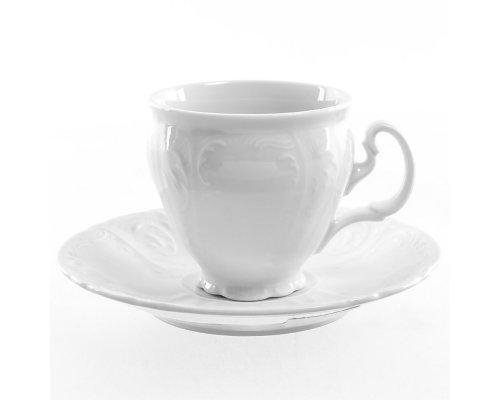 Набор кофейных пар 170 мл Бернадотт 0000 Недекорированный (6 пар)
