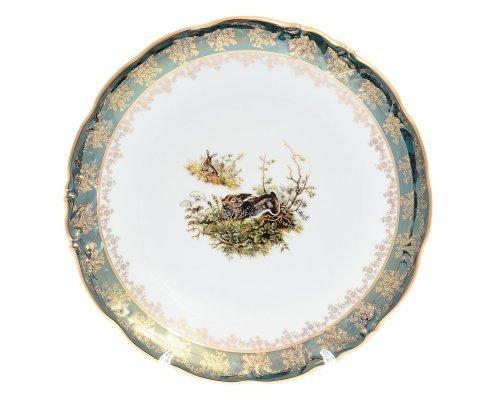 Блюдо круглое 30 см Фредерика Охота Зеленая Карлсбад (Carlsbad)