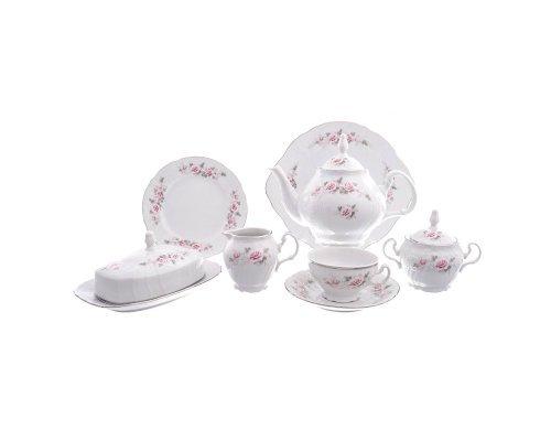Чайный сервиз на 12 персон 43 предмета Бернадотт Серая роза платина
