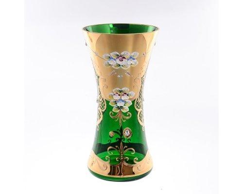 Ваза 30 см Лепка зеленая E-V Bohemia (Богемия)