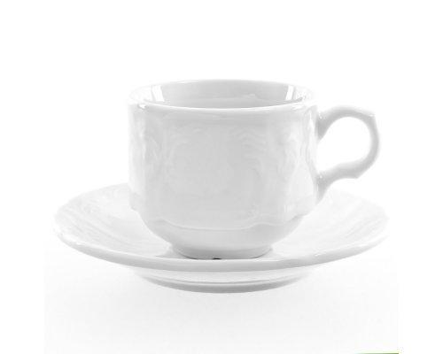 Набор кофейных пар 120 мл Бернадотт 0000 Недекорированный (6 пар)