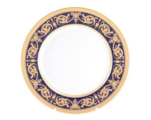 Блюдо круглое 32 см Falkenporzellan Imperial Cobalt Gold