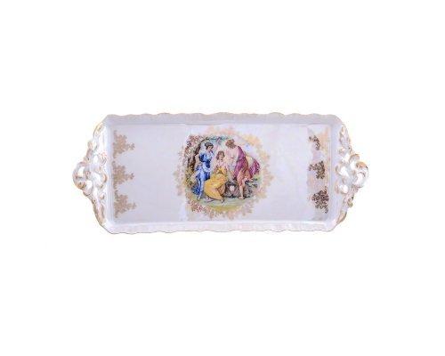 Блюдо прямоугольное 40 см Мадонна перламутр Корона Queens Crown