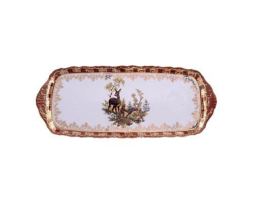 Блюдо прямоугольное 40 см Охота красная Корона Queens Crown