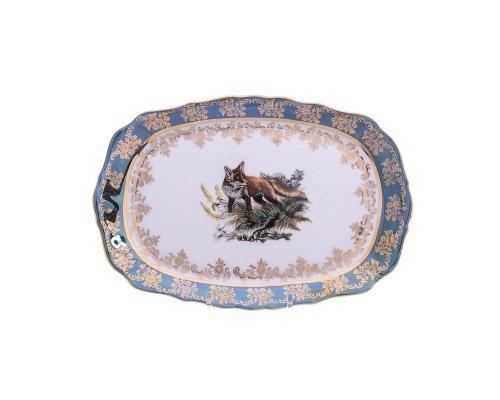 Блюдо прямоугольное 21 см Охота зеленая Корона Queens Crown