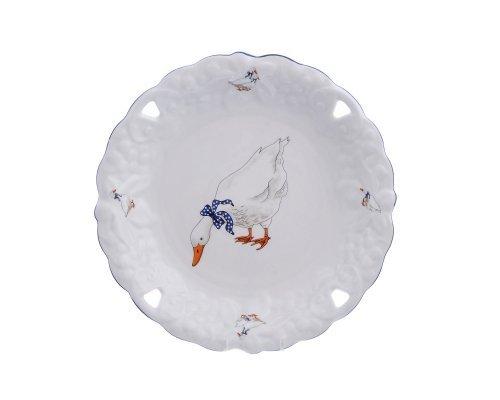 Блюдо круглое 30 см Гуси Queens Crown
