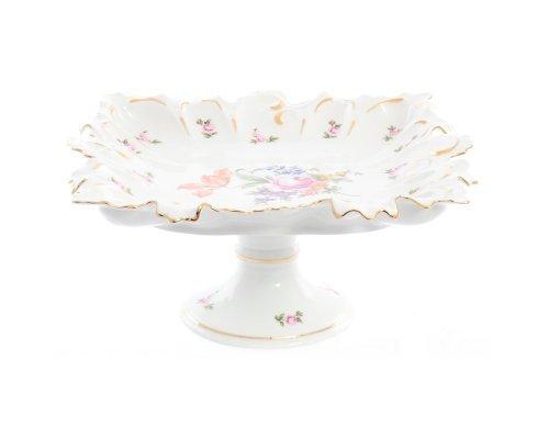 Блюдо фигурное квадратное 36 см на ножке Полевой цветок Корона Queens Crown