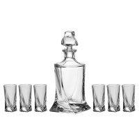 Набор для ликера 7 предметов Quadro Богемия Кристал (Bohemia Crystal)
