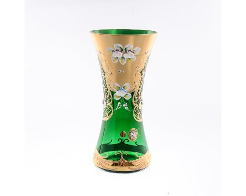 Ваза 22 см Bohemia (Богемия) Лепка Зеленая E-V