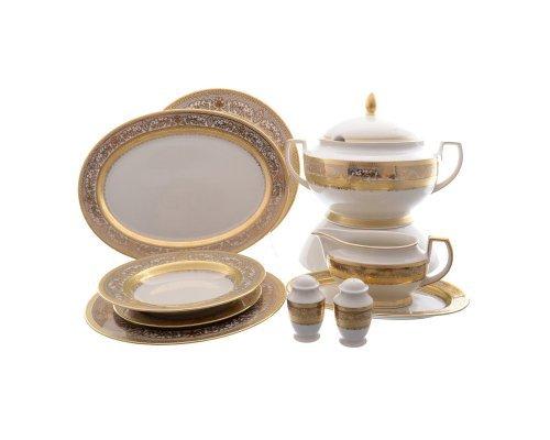 Столовый сервиз на 6 персон 27 предметов Falkenporzellan Cream Majestic Gold