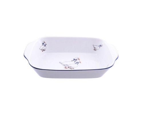 Блюдо для запекания 21 см Гуси Тхун (Thun) жаропрочный фарфор