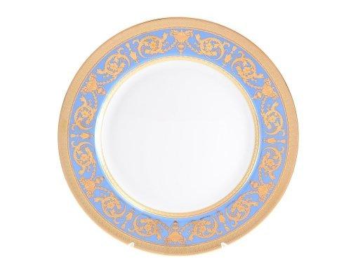 Блюдо круглое 32 см Falkenporzellan Imperial Blue Gold