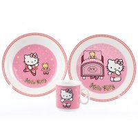 Детский набор 3 предмета Тхун (Thun) Розовая Китти (Подарочная упаковка)