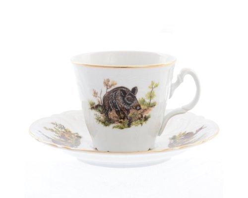 Набор чайных пар ведерка Охота Bernadotte 200 мл (6 пар)