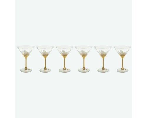 Набор бокалов для мартини 210 мл E-V Bohemia (Богемия) Золото