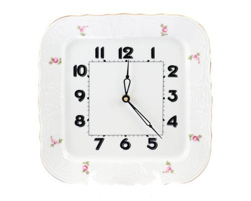 Часы квадратные 26 см Бернадотт Полевой цветок