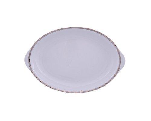 Блюдо для хлеба 33 см Тхун (Thun) Опал Платиновые пластинки