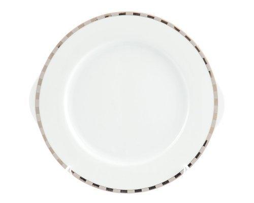 Тарелка для торта 27 см Тхун (Thun) Опал Платиновые пластинки
