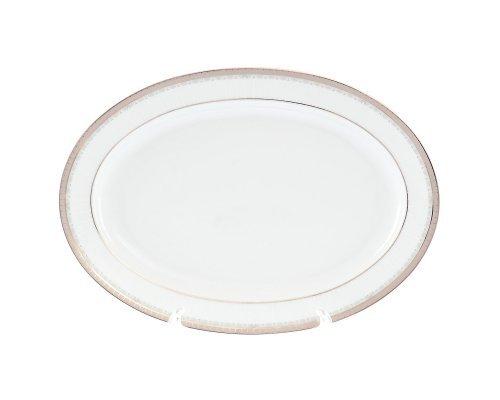 Блюдо овальное 32 см Тхун (Thun) Опал Платиновая лента