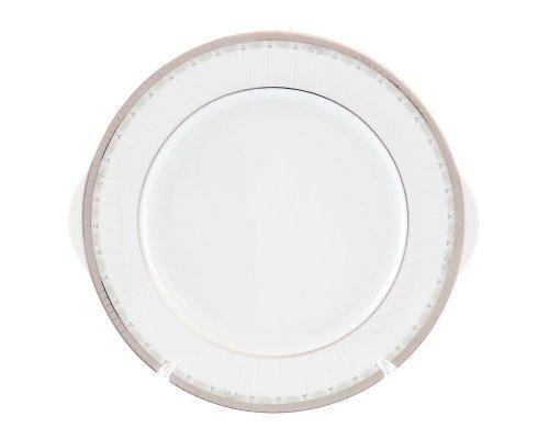 Тарелка для торта 27 см Тхун (Thun) Опал Платиновая лента