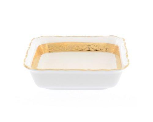 Салатник квадратный 16 см Мария Луиза Матовая полоса Карлсбад (Carlsbad)