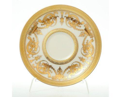 Набор блюдец Falkenporzellan Constanza Crem Imperial Gold (6 шт)