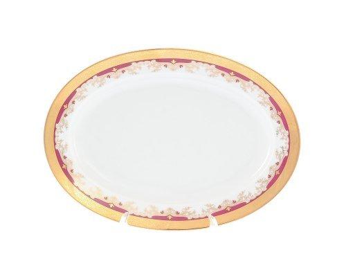 Блюдо овальное 24 см Тхун (Thun) Кристина Красная Лилия