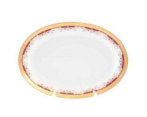 Блюдо овальное 32 см Тхун (Thun) Кристина Красная Лилия