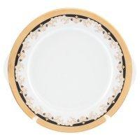 Тарелка для торта 27 см Тхун (Thun) Кристина Черная Лилия