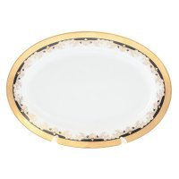 Блюдо овальное 24 см Тхун (Thun) Кристина Черная Лилия