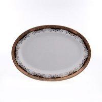 Блюдо овальное 36 см Тхун (Thun) Кристина Черная Лилия