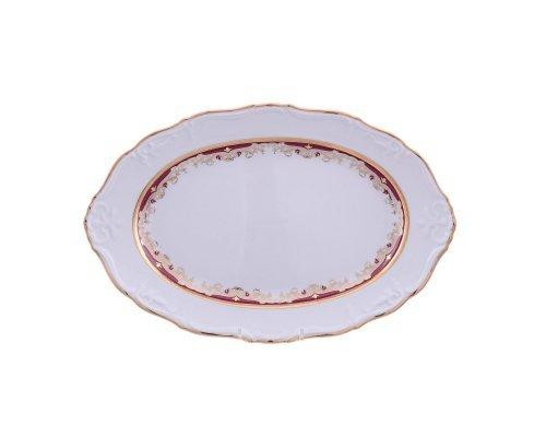 Блюдо овальное 32 см Тхун (Thun) Мария Луиза Красная лилия