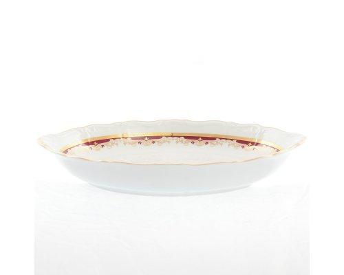 Блюдо для хлеба 33 см Тхун (Thun) Мария Луиза Красная лилия