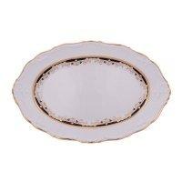 Блюдо овальное 32 см Тхун (Thun) Мария Луиза Синяя лилия