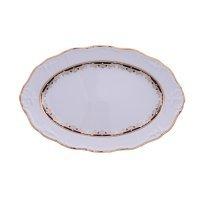 Блюдо овальное 34 см Тхун (Thun) Мария Луиза Синяя лилия