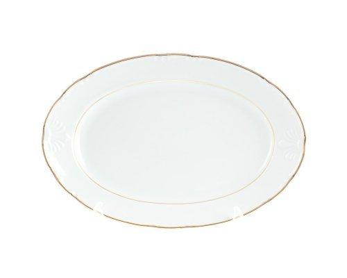 Блюдо овальное 32 см Тхун (Thun) Констанция Отводка золото