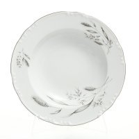 Набор тарелок глубоких 23 см Тхун (Thun) Констанция Серебряные колосья (6 шт)