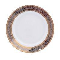 Набор тарелок 19 см Опал Широкий кант платина золото Thun (6 шт)