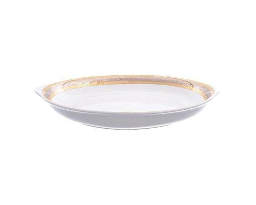 Блюдо для хлеба 34 см Тхун (Thun) Опал Широкий кант платина золото