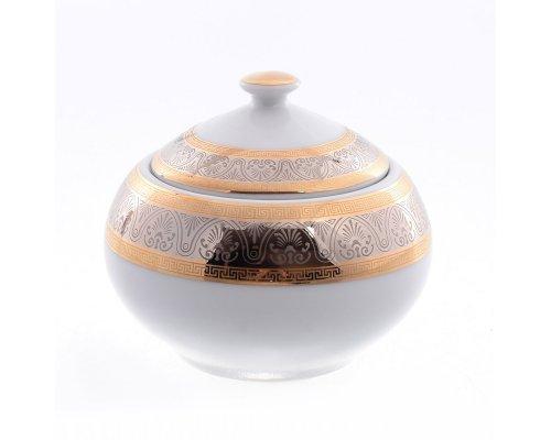 Сахарница 200 мл Тхун (Thun) Опал Широкий кант платина золото