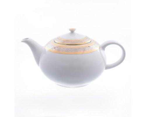 Чайник 1,2 л Тхун (Thun) Опал Широкий кант платина золото