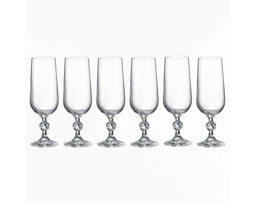 Набор фужеров для шампанского 180 мл Клаудия Crystalite Bohemia (6 шт)