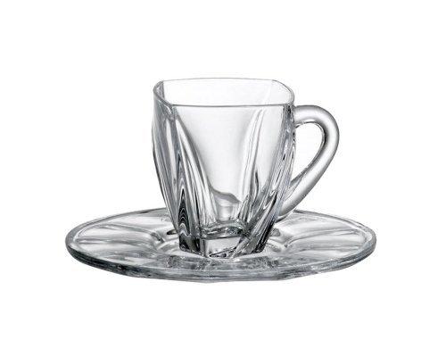 Набор чайных пар 160 мл Neptune Crystalite Bohemia на 6 персон