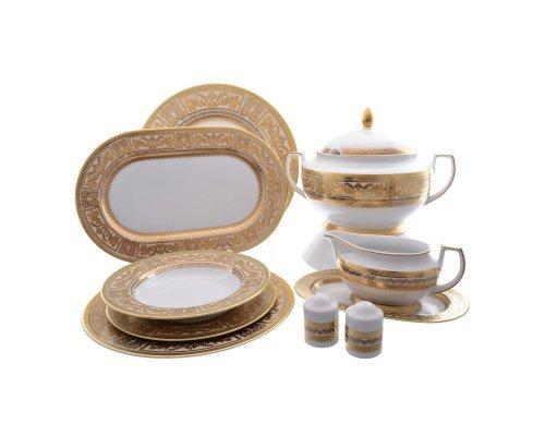 Столовый сервиз на 6 персон 27 предметов Falkenporzellan Diadem Creme Gold