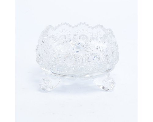 Ваза для конфет тройножка 8 см Sonne Crystal
