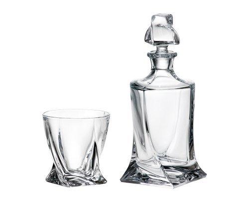 Набор для виски 7 предметов Quadro Богемия Кристал (Bohemia Crystal)