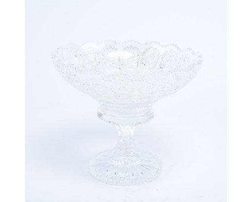Конфетница 15 см на ножке Sonne Crystal