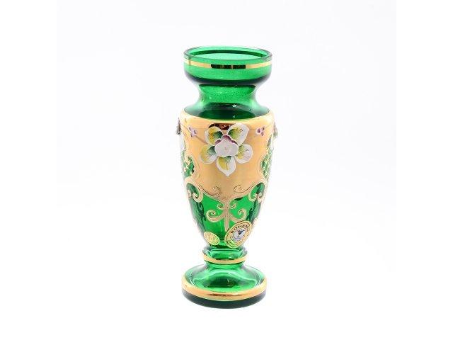Ваза 16 см Bohemia (Богемия) Лепка Зеленая E-V
