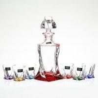 Набор для ликера Quadro Ассорти Bohemia Crystal 7 предметов